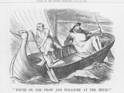 Youth on the Prow and Pleasure at the Helm!, 1886-Joseph Swain-Giclee Print