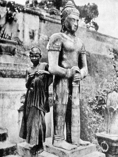 Youthful Devotee of the Great Buddha, 1936-Ewing Galloway-Premium Giclee Print
