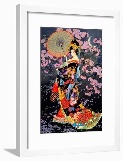 Yozakura-Haruyo Morita-Framed Art Print