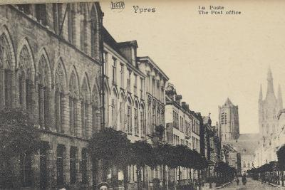 Ypres Avant Et Après La Guerre: the Post Office of Ypres before the Bombings of WWI- Legia-Photographic Print