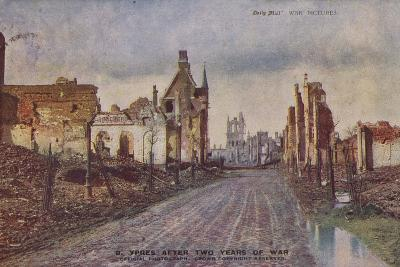 Ypres, Belgium, after Two Years of War, World War I--Photographic Print