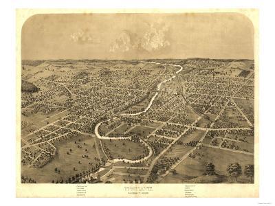 Ypsilanti, Michigan - Panoramic Map-Lantern Press-Art Print