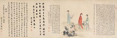 Yuan Mei and His Female Students- Yuan Mei, You Zhao and Wang Gong-Giclee Print