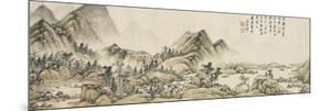 Paysage dans le style de Huang Gongwang by Yuanqi Wang