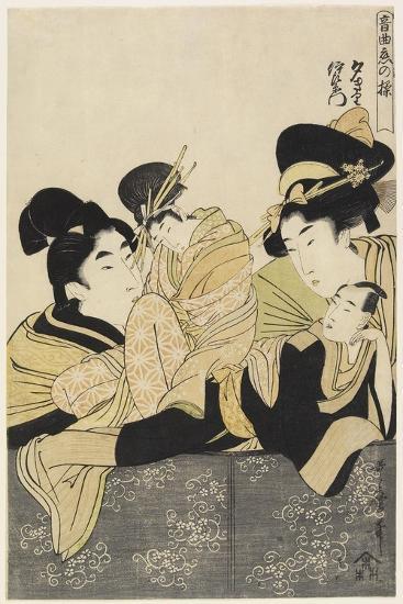 Yugiri and Izaemon, C. 1801-Kitagawa Utamaro-Giclee Print