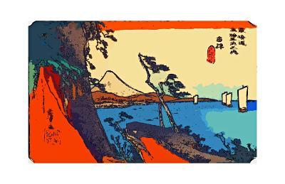 Yui: Path of Setta with Mount Fuji-Ando Hiroshige-Giclee Print