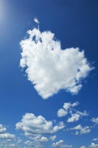 Clouds Forming Heart in Sky by Yuji Sakai
