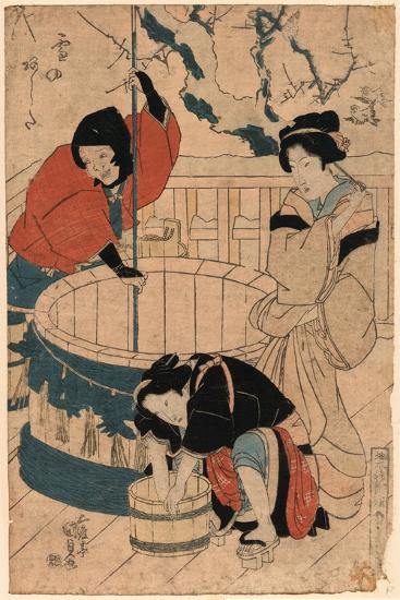 Yuki No Ashita-Utagawa Toyokuni-Giclee Print