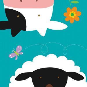 Farm Group: Cow and Sheep by Yuko Lau