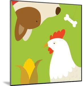 Farm Group: Hen and Dog by Yuko Lau