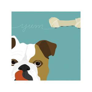 Peek-a-Boo Bulldog by Yuko Lau