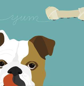 Peek-a-Boo English Bulldog by Yuko Lau