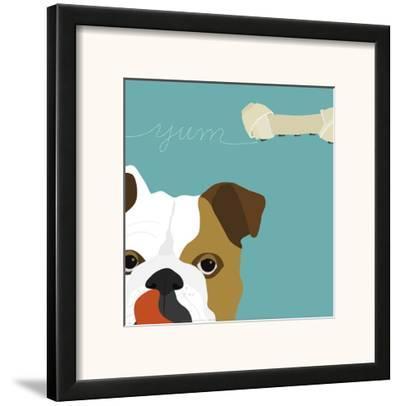 Peek-A-Boo: English Bulldog by Yuko Lau