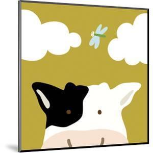 Peek-a-boo III - Cow by Yuko Lau