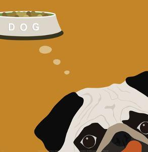 Peek-a-Boo Pug by Yuko Lau