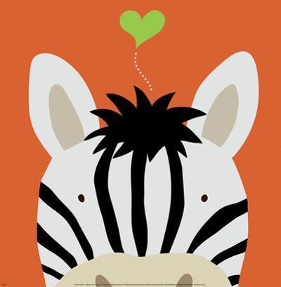 Peek-a-Boo XII, Zebra by Yuko Lau
