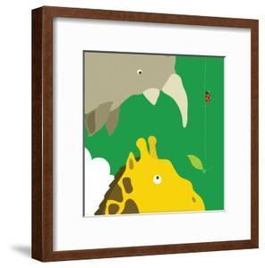 Safari Group: Giraffe and Rhino by Yuko Lau