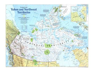 Yukon And Northwest Territories Map 1997-National Geographic Maps-Art Print