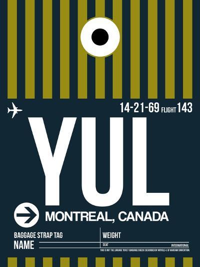 YUL Montreal Luggage Tag 1-NaxArt-Art Print