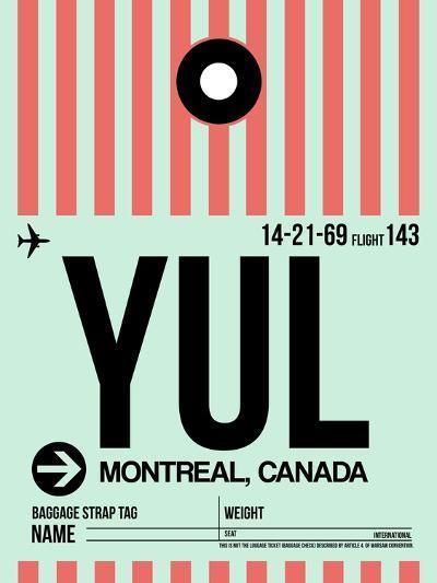 YUL Montreal Luggage Tag 2-NaxArt-Art Print