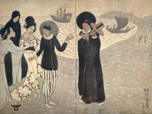 Arrival of Christianity by Yumeji Takehisa