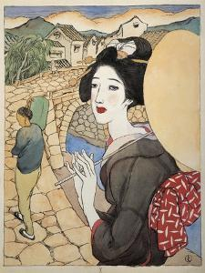 The Series Twelve Scenes from Nagasaki, Japan by Yumeji Takehisa