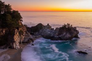 Sunset at Mcway Falls by Yun Chung
