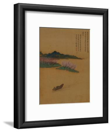 Hermit Fishing on the Peach Blossom Stream, in the Style of Zhao Mengfu, from an Album of Ten…