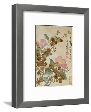 Plum Blossom and Camelias