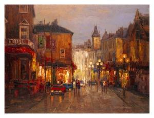 Parisian Night Scene by Yuri Borsuk