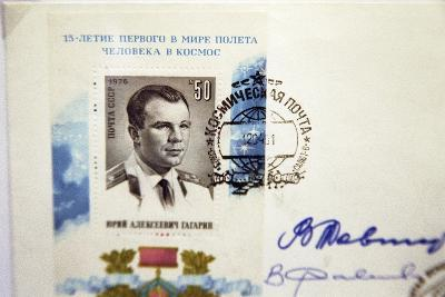 Yuri Gagarin Postage Stamp-Ria Novosti-Photographic Print
