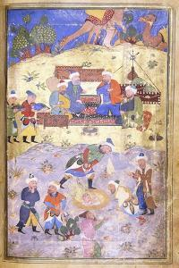 Yusuf Being Rescued from the Pit, C.1492-3 (Illuminated Manuscript on Paper)
