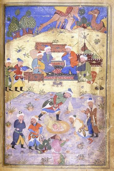 Yusuf Being Rescued from the Pit, C.1492-3 (Illuminated Manuscript on Paper)--Giclee Print