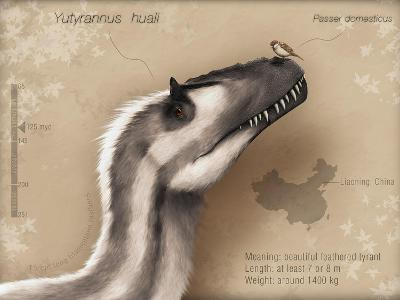 Yutyrannus Huali Is a Feathered Tyrannosauroid from the Early Cretacous of China--Art Print