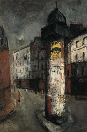 A Poster Column, Paris by Yuzo Saeki