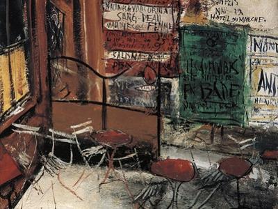 Terrace of a Cafe, Paris by Yuzo Saeki