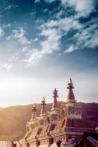 Tibetan Stupa in a Buddhist Temple by Yves ANDRE