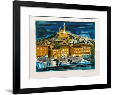 Marseille : Le Vieux-Port la nuit