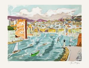 Marseille : le Vieux-Port by Yves Brayer