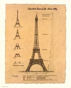 Eiffel Tower, Exposition, 1889 by Yves Poinsot