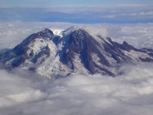Aerial of Mt. Rainier, Washington State by Yvette Cardozo