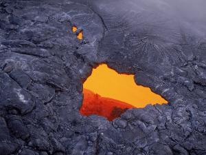Aerial View of Lava Beneath Crust, Volcano National Park, HI by Yvette Cardozo