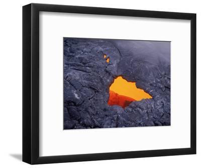 Aerial View of Lava Beneath Crust, Volcano National Park, HI