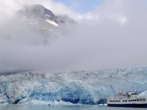 Cruise Ship, Reid Glacier, Glacier Bay, AK by Yvette Cardozo