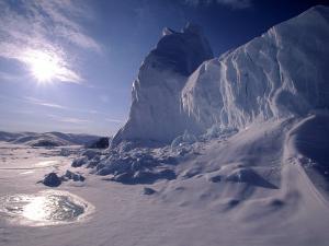 Iceberg and Meltwater Pool, Baffin Island, Nunavut, CA by Yvette Cardozo