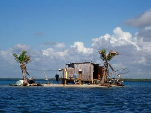 One Man Island off Placencia, Belize by Yvette Cardozo