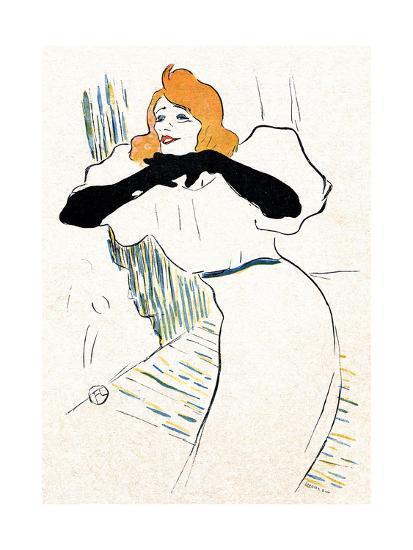 Yvette Guilbert, Lautrec-Henri de Toulouse-Lautrec-Giclee Print