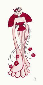 Geisha I by Yvette Jordan