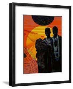 Africa's Cosmic Sunset by Yvonne Coleman Burney