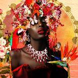 Africa's Cosmic Sunset-Yvonne Coleman Burney-Art Print